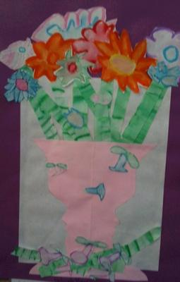 Silhouette Vase--2nd Grade