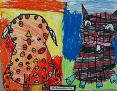 Hot Dog and Cool Cat--1st Grade