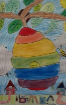 Beehive Color Wheel--2nd Grade