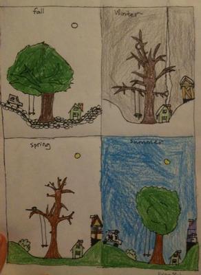 Four Season's Tree -- 2nd Grade