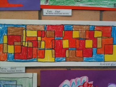 Overlapping Geometric Squares -- 2nd Grade
